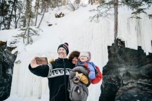 Yellowknife ice caves image.